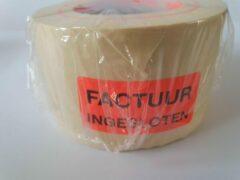 """Merkloos / Sans marque Sticker met """"Factuur Ingesloten"""" erop - Formaat: 49 x 23 mm - Materiaal: rood radiant"""