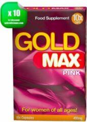 Gold Max ™ Gold Max - Erectiepillen voor vrouwen - Orgasme Topper - 10 stuks