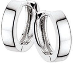 Zilveren The Jewelry Collection Klapoorringen 2,5 mm Vlak - Witgoud