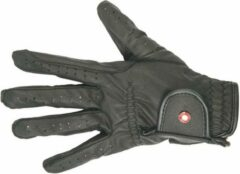 Zwarte HKM Rijhandschoenen -Professional soft- maat XXL