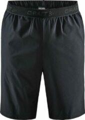Zwarte Craft Core Essentialence Relaxed Shorts Sportbroek Heren - Maat M