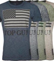 """Top Gun™ Top Gun T-shirt, ronde hals van katoen """"US vintage Flag"""""""