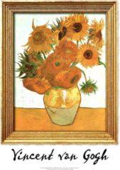 Blauwe CoverArt ArtPrint Vincent van Gogh Zonnebloemen