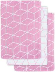 Paarse Jollein Hydrofiel washandje Graphic mauve (3pack)