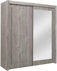 Gamillo Furniture Schuifdeurkast Eden 201 cm breed in grijs eiken