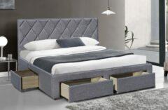 Home Style Tweepersoonsbed Betina 160x200cm in grijs