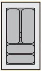 Zilveren Bestekbak Organiser universeel inzetbaar, 201 - 250 mm breed, 441 - 520 mm diep.