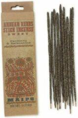 Naturelkleurige Vegan wierookstokjes 'Harmony & Relaxation', Andeskruiden, Prabhuji's Gifts, 10 sticks