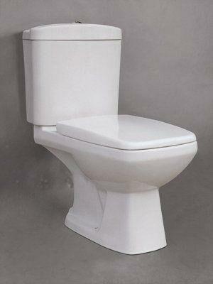 Afbeelding van Badstuber Style duoblok toilet set wit met zitting AO