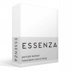 Essenza Premium percale katoen hoeslaken extra hoog - 100% percale katoen - 2-persoons (140x200 cm) - White