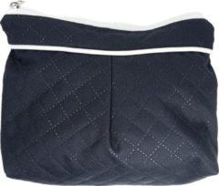 Marineblauwe P'tit Chou - Toiletzakje Trento Navy blue - stof