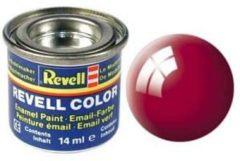 Rode Emaille kleur Revell Ferrari-rood (glanzend) 34 Doos 14 ml