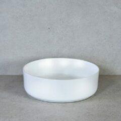 QeramiQ Note opbouw waskom 37x12cm keramisch wit mat 10401053