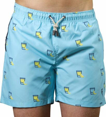 Afbeelding van Lichtblauwe Sanwin Beachwear Sanwin Zwembroek Venice Tequila Heren - Blauw - XL
