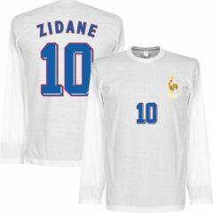 Witte Retake Zidane 1998 Longsleeve T-Shirt - S