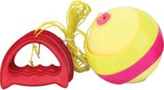 Summertime trekbalspel Splash Ball 12 cm geel/rood