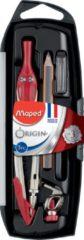 Maped Office Origin passer met 2 mm vulling - 5-delig - assorti kleuren - in ophangdoos in display