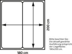 Westfalia Schlafkomfort Boxspringbett ohne Kopfteil, frei im Raum stellbar