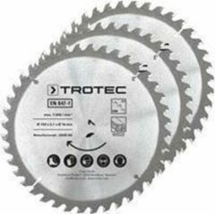 TROTEC Cirkelzaagbladenset voor hout Ø 150 mm (40 tanden), 3-delig
