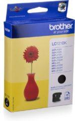 Zwarte Brother LC-121BK - Inktcartridge / Zwart