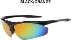 Oranje Makes Easy Fietsbril | Sportbril | Sportzonnebril | Zwart | Inclusief Luxe Koffer met Doek