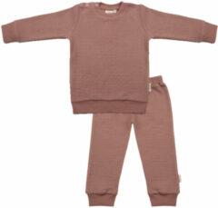 Little Indians Pyjama Burlwoord Junior Katoen Bruin Mt 3-6 Maanden