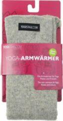 Grijze Yoga-armwarmers stone grey - wol Armwarmers YOGISTAR