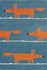 Blauwe Scion - Laagpolig vloerkleed Scion Mr Fox Denim 25318 - 120x180 cm