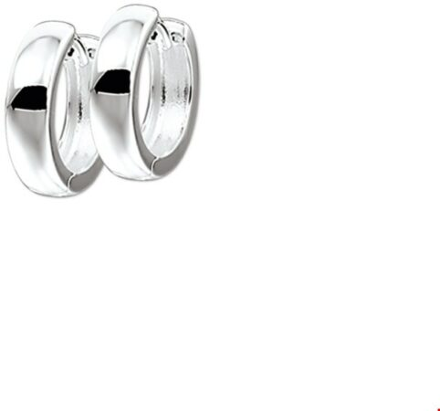 Afbeelding van GLAMS The Jewelry Collection Klapoorringen Bol - Zilver