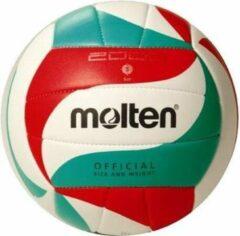 Molten Trainingsvolleybal 5m2000 Wit/rood/groen Maat 5