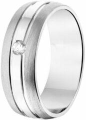 Huiscollectie TFT Ring A210 - 6,5 Mm - Met Cz Zilver Gerhodineerd