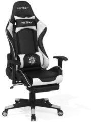 Beliani Bureaustoel zwart/wit in hoogte verstelbaar VICTORY