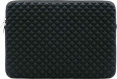 Luminous Luxury 15.6 inch Laptophoes met Studs Voering – Zwart – Laptoptas Sleeve met Rits Sluiting