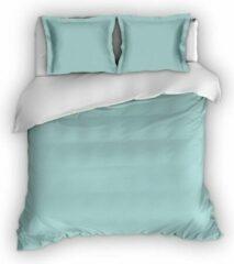 Warme Flanel Eenpersoons Dekbedovertrek Uni Groen/Wit | 140x200/220 | Hoogwaardig En Zacht | Ideaal Tegen De Kou