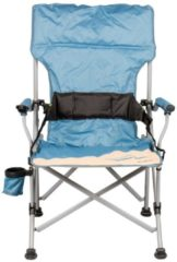 Praktischer Campingstuhl mit Getränkehalter und Flaschenöffner vielseitig einsetzbar für Festival Meerweh beige/blau