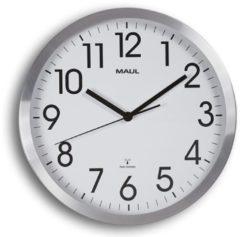 MAUL Wanduhr/Funkuhr MAULmove, Durchmesser: 300 mm, silber
