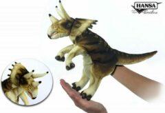 Groene Hansa Creation Triceratops handpop roomwit/bruin 7764 lxbxh = 43x19x33cm