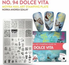 Moyra Nail Art Stamping Plate 94 - Dolce Vita