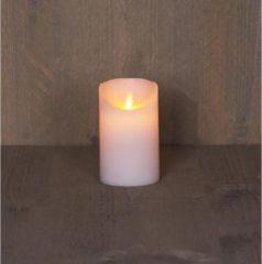 Anna's Collection 2x Witte LED kaars / stompkaars 12,5 cm - Luxe kaarsen op batterijen met bewegende vlam