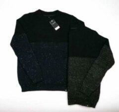 Blauwe Gibson heren trui navy / zwart melange - maat M