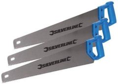 Silverline Handzaag, 3 pk. 3 x 550 mm, 7 tpi