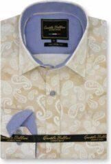 Gentile Bellini Heren Overhemd - Slim Fit - Luxury Paisley - Beige - Maat 3XL