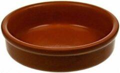 Cosy&Trendy Set van 8 kleine tapas schalen bruin - Creme brulee bakjes/schaaltjes 8 cm