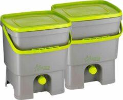 Skaza Compostemmer Organko 26 X 32 X 38 Cm Grijs/groen 2 Stuks
