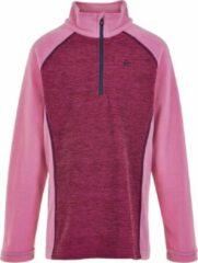 Color Kids - Fleece pullover met halve rits voor meisjes - Melange - Fuchsia roze - maat 152cm