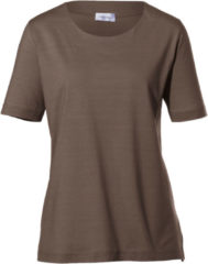 Shirt met ronde hals en 3/4-mouwen Van Peter Hahn bruin