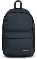 Blauwe Eastpak Back To Work Rugzak 15 inch laptopvak - Triple Denim