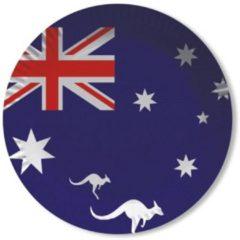 Australie vlag thema wegwerp bordjes 8x stuks - Feestartikelen en landen versiering