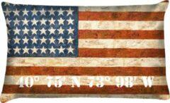 Rode Velits outdoor Buitenkussen Amerikaanse vlag fancy