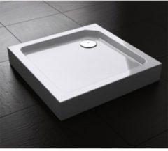 Douche Concurrent Douchebak Best Design Vierkant 80x80x14cm SMC Glans Wit met Verstelbare Potenset